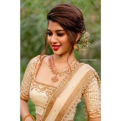Party Wear Indian Dresses, Indian Bridal Outfits, Indian Bridal Wear, Indian Gowns, Kerala Saree Blouse Designs, Half Saree Designs, Bridal Blouse Designs, Half Saree Lehenga, Lehenga Saree Design