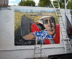 Mural of Hunter Thompson in Louisville.