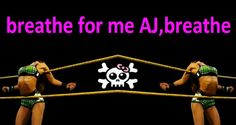 """My Banner on my site on tumblr.With a special Art double picture from myself,a screenshot of the fight wwe nxt aj vs maxine,green outfit-you can see this fight in my Folder""""AJ Brooks Videos"""".Breathe for me AJ,breathe.-<Marki>-"""