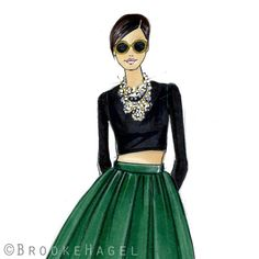 Adele  Fashion Illustration  by Brooke Hagel by brooklit on Etsy
