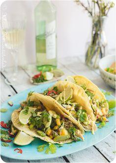 Hähnchen-Tacos mit Spargel-Mango-Salsa | Kleiner Kuriositätenladen
