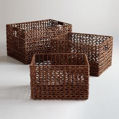 One of my favorite discoveries at WorldMarket.com: Seagrass Storage Baskets