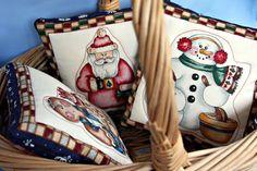 Christmas Bowl Basket Fillers Small Pillow Santa by MomsTreasures, $5.00