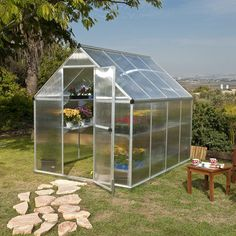 Palram Nature Twin Wall 6 Ft. W x 8 Ft. D Polycarbonate Greenhouse & Reviews   Wayfair Supply