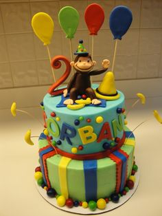 Curious George In Big Yellow Hat Cake Topper Gumpaste