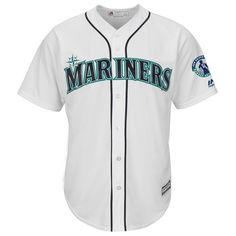 Seattle Mariners Majestic Griffey Retirement Day Patch Cool Base Team Jersey - White - $134.99