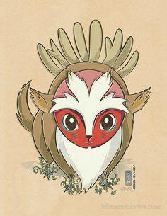 Princesse Mononoke - Le dieu cerf (chibi)
