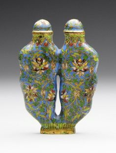 A Chinese Cloisonne Enamel Double Snuff Bottle