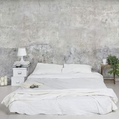 """Industrial Style"" - bedroom - concrete wallpaper"