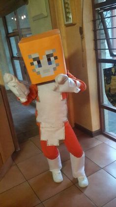 Stampy Cat costume made for my son's school dress up day