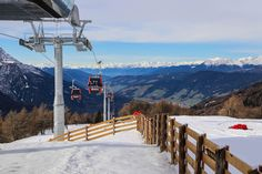 The newly opened #ski connection between Helm and #Rotwand in the Sexten Dolomites, South Tyrol. Perfect ski area with kids, slopes for all levels.