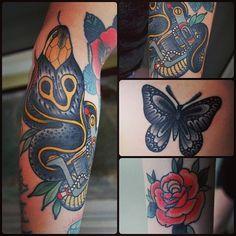 Algunos tattoos de Medellin en Sailors!! Desde el lunes en Bogotá hasta el 25 de junio tatuando en Luckys Tattoo Parlour!!  Buenas noches!!