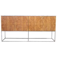 Burl Cabinet by Milo Baughman for Thayer Coggin | From a unique collection of antique and modern buffets at http://www.1stdibs.com/furniture/storage-case-pieces/buffets/