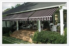 Sunbrella awnings are a unique and functional way to boost your home's curb appeal