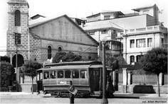 Tranvía pasando por la plaza Venezuela 1930