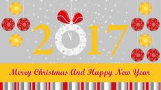 New merry christmas and happy new year 2017 banner at temasistemi.net