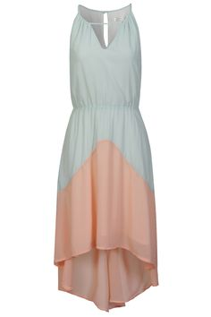 TWO TONE LIGHT GREEN DRESS