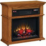 Duraflame Infrared Mantel Stove with Remote (Oak) $120