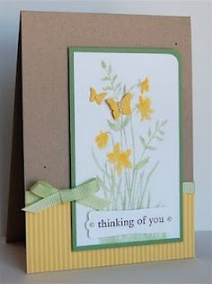 Just Believe 120453 and Beautiful Wings Embosslit 118138  // Thinking of you card