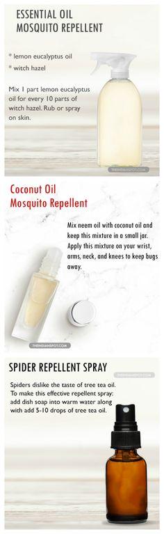 Essential oils as bug repellant