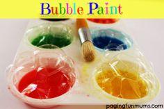 Bubble Paint…great for bath time!