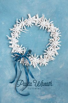 We really do love wreaths especially because they can be so unique and are a great way to make your home feel happy and cozy! Check out our pasta wreath that you can make any color you wish and can have it up year around! The tutorial is on the blog!