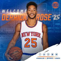Knicks announce that Derrick Rose will wear No. 25. (via New York Knicks) 6/23/2016