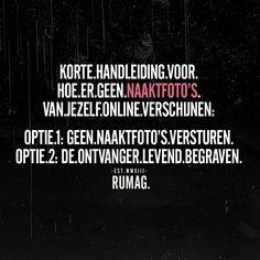 9,581 vind-ik-leuks, 195 reacties - RUMAG | Nederland (@rumagnl) op Instagram: 'Zorg dat jij optie 3 bent; een ontvanger die niet levend begraven hoeft te worden. Hou die foto's…'