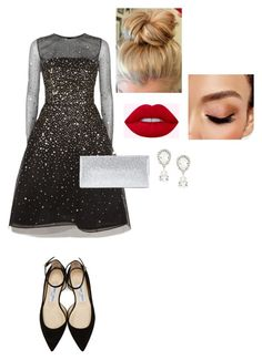 """Untitled #30"" by ireneintan on Polyvore featuring Oscar de la Renta, Jimmy Choo, Dolce&Gabbana and Avon"