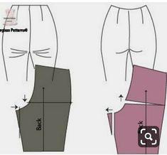 Dress Making Patterns, Coat Patterns, Clothing Patterns, Sewing Pants, Sewing Clothes, Diy Clothes, Techniques Couture, Sewing Techniques, Sewing Collars