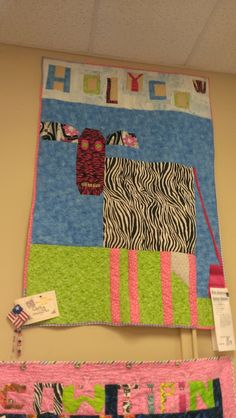 Carley's cow quilt HOLY COW 2014