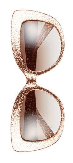 rose glitter cat eye sunglasses