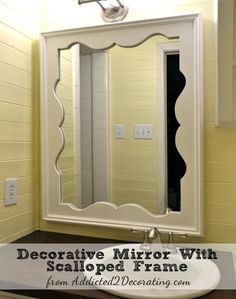 DIY home crafts DIY Decorative Mirror With Scalloped Frame DIY home crafts