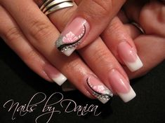 #pink and white #french #nail art