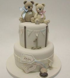 Cute Birthday Cake For Twins