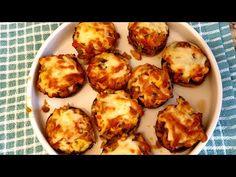 Ciuperci umplute cu piept de pui si legume/ Aperitiv pentru sarbatori - YouTube Romanian Food, Mushroom Recipes, Food Videos, Stuffed Mushrooms, Curry, Food And Drink, Make It Yourself, Vegetables, Cooking
