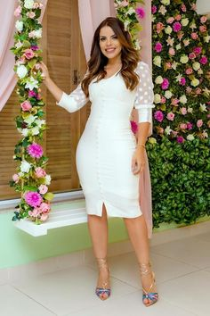All White Outfit, White Outfits, White Dress, Sexy Dresses, Casual Dresses, Madame Chic, Sexy Legs And Heels, Office Fashion, White Fashion