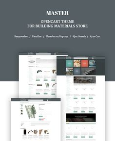Building Materials Responsive OpenCart Template #63857
