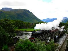 One of the most picturesque railway journeys in Scotland, the legendary steam train begins its journey on 'The Road to the Isles.' It is called The Jacobite Steam Train because it passes through much of the area associated with Bonnie Prince Charlie during the Jacobite Rebellion.The Jacobite steam train came to prominence in the Harry Potter films, when it became transformed into the Hogwarts Express.