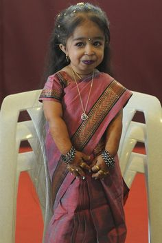 Jyoti Amge is playing the world's smallest woman in the freak show. Fittingly, she is actually the world's smallest woman in real life, at two feet tall. Source: Getty / PUNIT PARANJPE