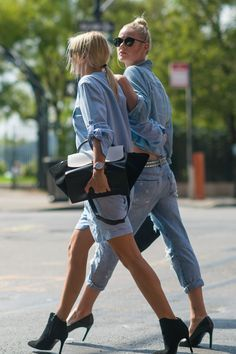 See how the street stylers are working spring trends now. This week, we're focusing on denim...