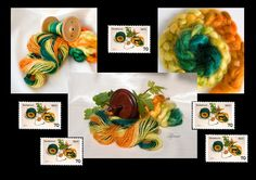 this Collage I did from snaps of my handspun mohair yarn