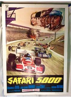 Safari 5000  Hot rod - race - speed car . Original italian vintage movie poster - ON SALE ! www.kustomlifestyle.it  #movieposter #affiche #manifesto #locandina #graphicart #interiordesign #italianposter #italianart #hotrod