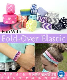 Easy Crafts: Elastic Headbands & Bracelets using Dritz Fold-Over Elastic with fun prints