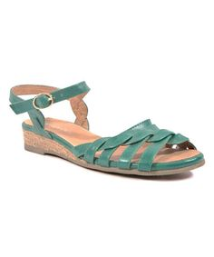 Look at this #zulilyfind! Green Frisky Sandal #zulilyfinds