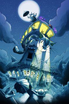 jdevlinart: Catbus from My Neighbour Totoro 2011
