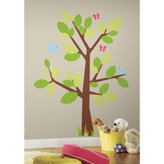18 In. X 40 In. Kids Tree 47 Piece Peel And Stick Giant