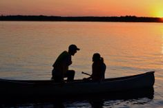 """#canoelove entry from Sarah Fernando #proposal #sunset See the newest exhibition at The Canadian Canoe Museum: """"The story of paddling and romance. Can I canoe you up the river?"""""""