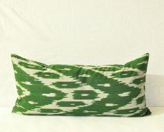 Forest Green cushion - Organic Cotton 100%. $20.00, via Etsy.