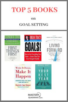 Top 5 Books on Goal Setting Best Books For Men, Best Self Help Books, Best Books To Read, Good Books, Book Club Books, Book Lists, Entrepreneur Books, Books For Self Improvement, Life Changing Books